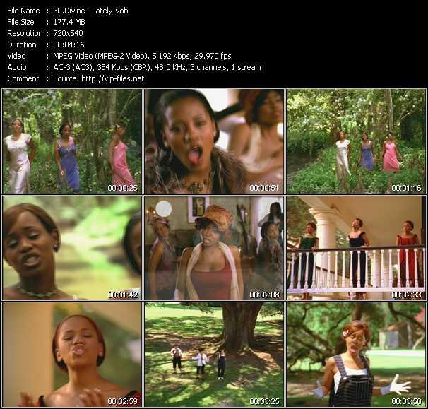 Screenshot of Music Video Divine - Lately