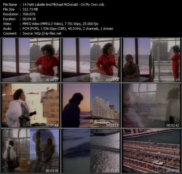 Screenshot of Music Video Patti LaBelle And Michael McDonald - On My Own