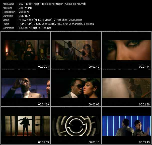 P. Diddy (Puff Daddy) Feat. Nicole Scherzinger clips musicaux vob