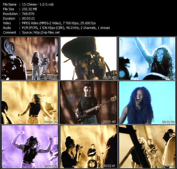 Screenshot of Music Video Chimes - 1-2-3