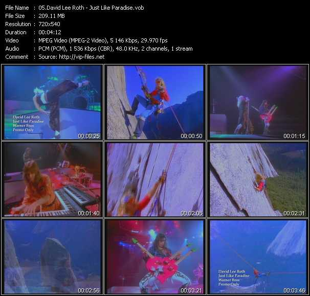 Screenshot of Music Video David Lee Roth - Just Like Paradise