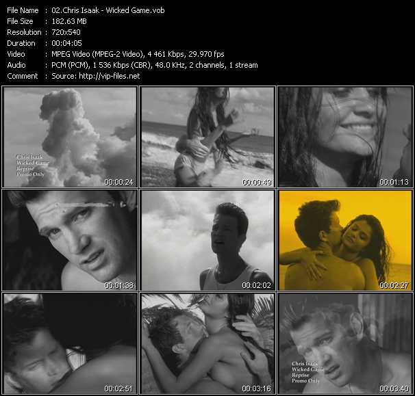 Screenshot of Music Video Chris Isaak - Wicked Game