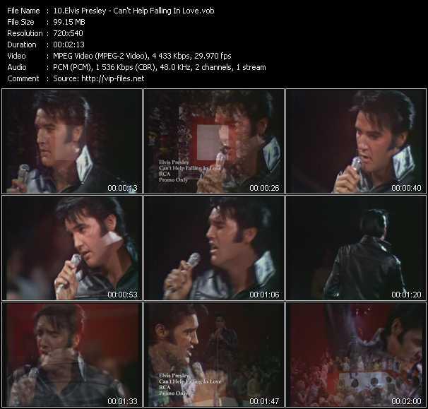 Screenshot of Music Video Elvis Presley - Can't Help Falling In Love