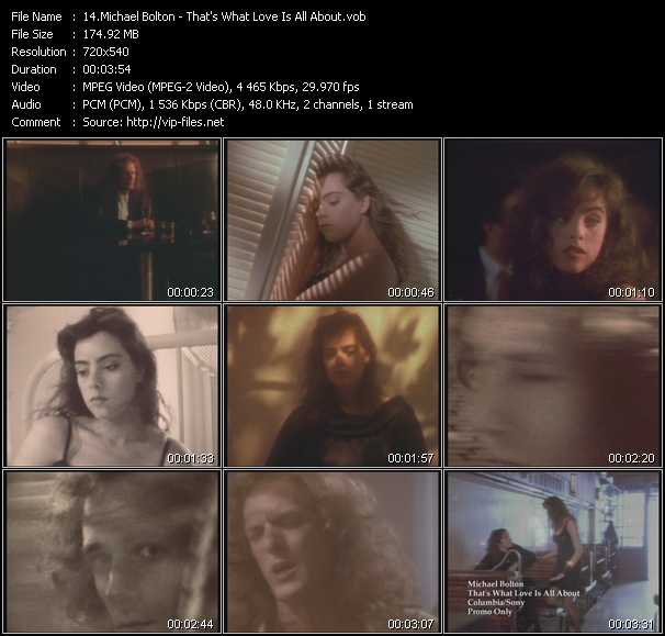 Screenshot of Music Video Michael Bolton - That's What Love Is All About