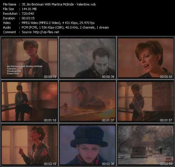 Jim Brickman With Martina McBride video vob