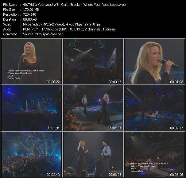 Screenshot of Music Video Trisha Yearwood With Garth Brooks - Where Your Road Leads