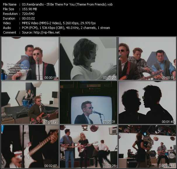 Screenshot of Music Video Rembrandts - I'll Be There For You (Theme From Friends)