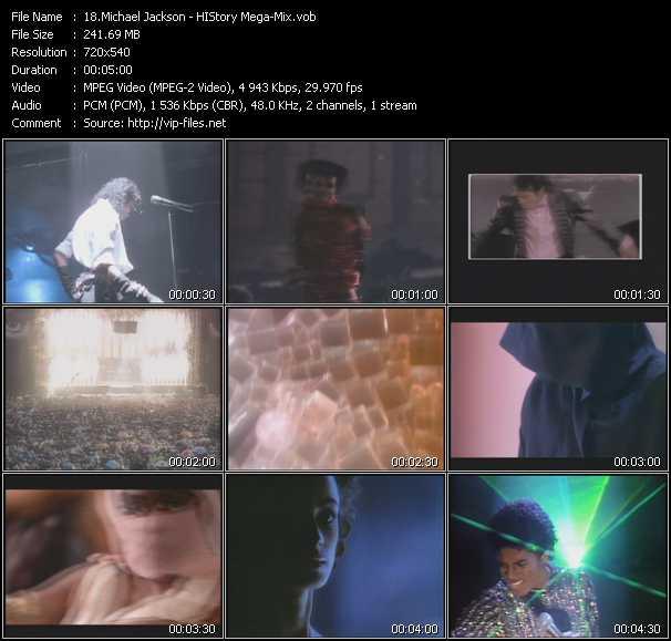 Michael Jackson - HIStory Mega-Mix - Download HQ music Video VOB of