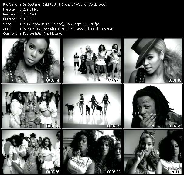Destiny's Child Feat. T.I. And Lil' Wayne video vob