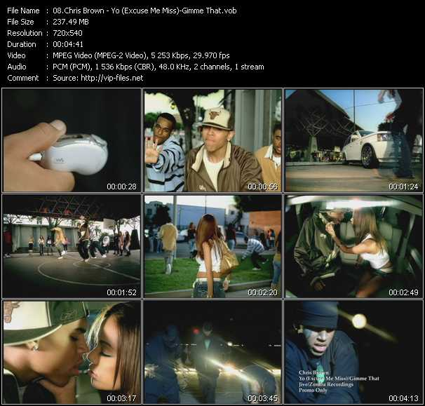 Chris Brown video vob