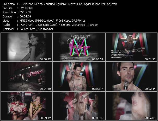 Maroon 5 Feat. Christina Aguilera video vob