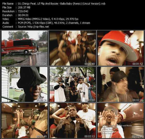 Chingy Feat. Lil' Flip And Boozie video vob
