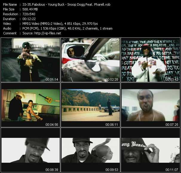Fabolous - Young Buck - Snoop Dogg Feat. Pharell video vob