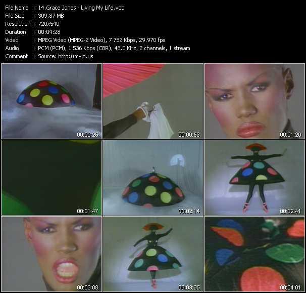 Screenshot of Music Video Grace Jones - Living My Life