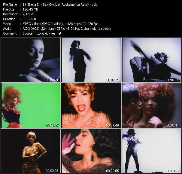 Screenshot of Music Video Sheila E. - Sex Cymbal (Rockamerica Remix)