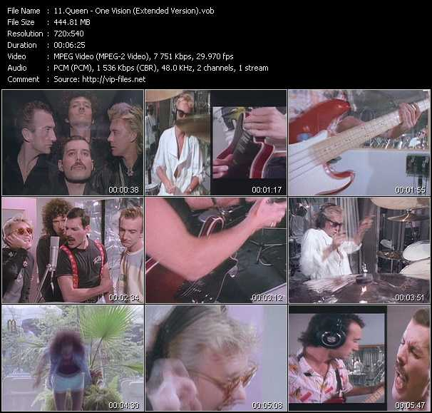 Screenshot of Music Video Queen - One Vision (Extended Version)