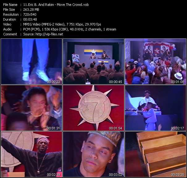 Screenshot of Music Video Eric B. And Rakim - Move The Crowd