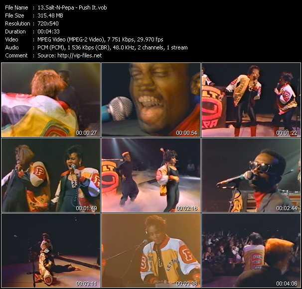 Screenshot of Music Video Salt-N-Pepa - Push It