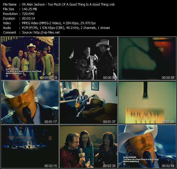 Alan Jackson clips musicaux vob