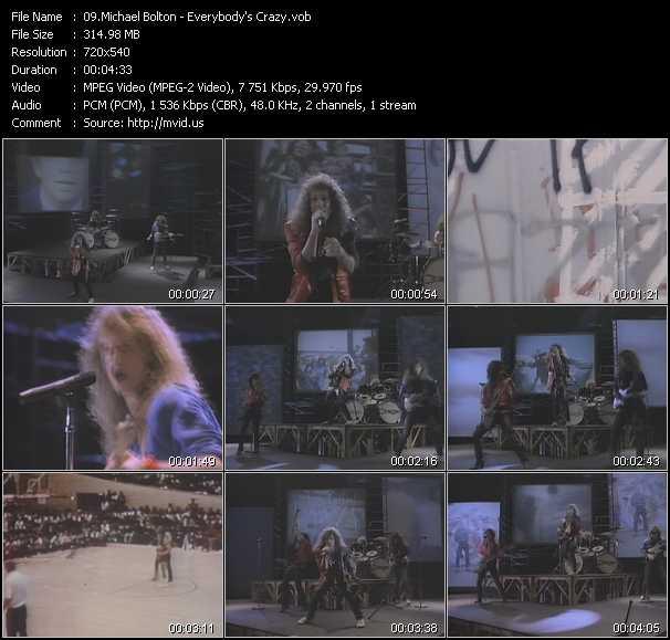 Screenshot of Music Video Michael Bolton - Everybody's Crazy