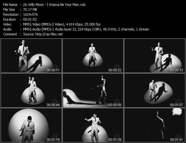 Screenshot of Music Video Willy Moon - I Wanna Be Your Man