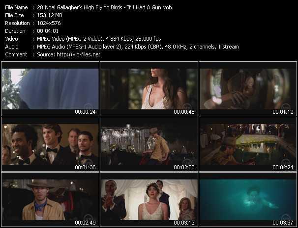 Screenshot of Music Video Noel Gallagher's High Flying Birds - If I Had A Gun
