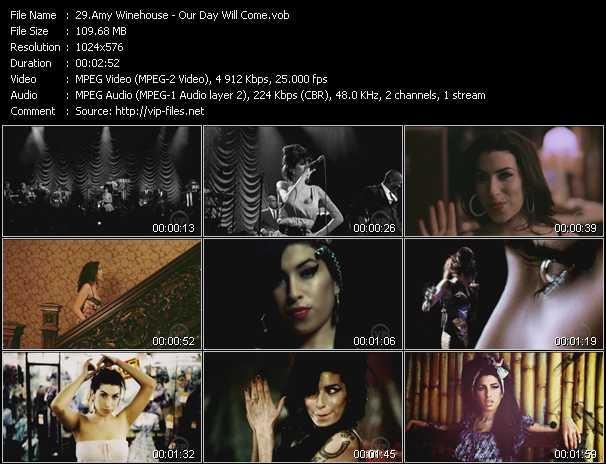 Screenshot of Music Video Amy Winehouse - Our Day Will Come