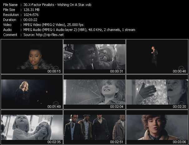 Screenshot of Music Video X-Factor Finalists - Wishing On A Star