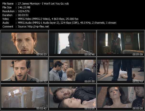 Screenshot of Music Video James Morrison - I Won't Let You Go