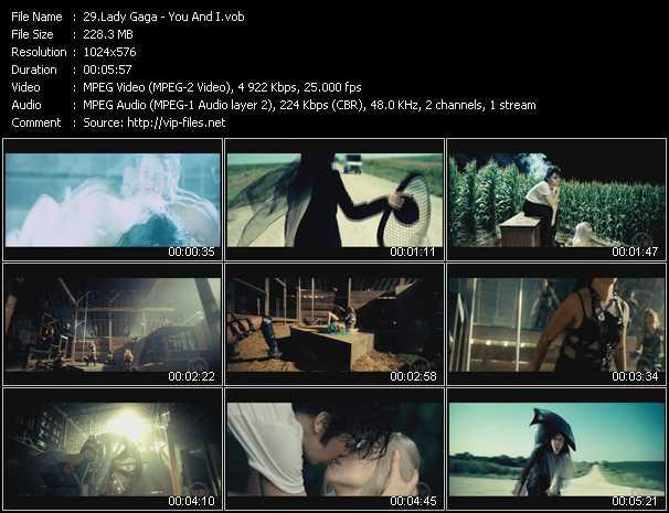 Screenshot of Music Video Lady Gaga - You And I