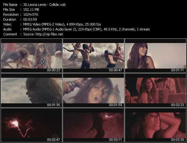 Screenshot of Music Video Leona Lewis - Collide