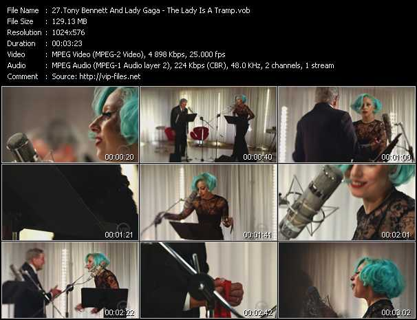 Screenshot of Music Video Tony Bennett And Lady Gaga - The Lady Is A Tramp