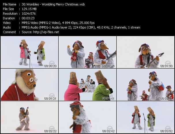 Screenshot of Music Video Wombles - Wombling Merry Christmas