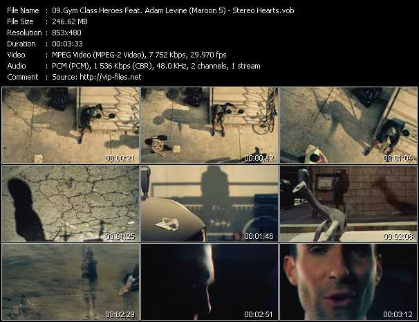 Gym Class Heroes Feat. Adam Levine (Maroon 5) clips musicaux vob