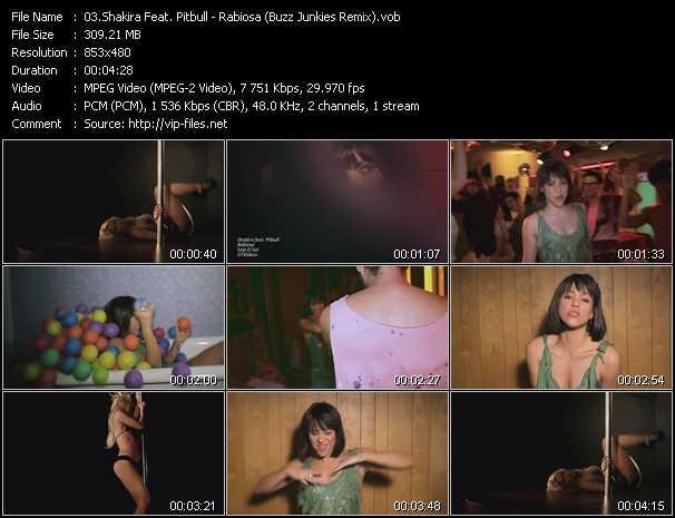 Shakira Feat. Pitbull видеоклип vob