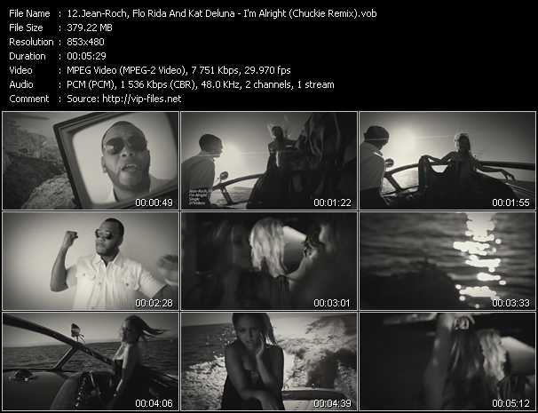 Jean-Roch, Flo Rida And Kat DeLuna clips musicaux vob