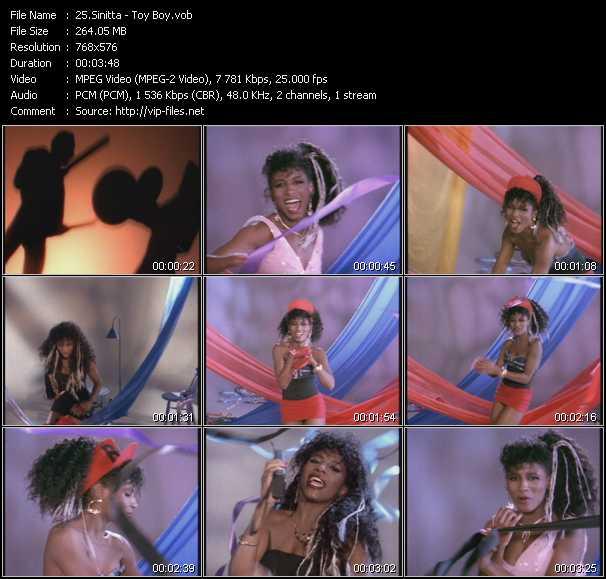 Screenshot of Music Video Sinitta - Toy Boy