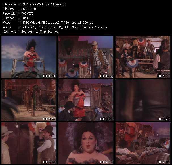 Screenshot of Music Video Divine - Walk Like A Man