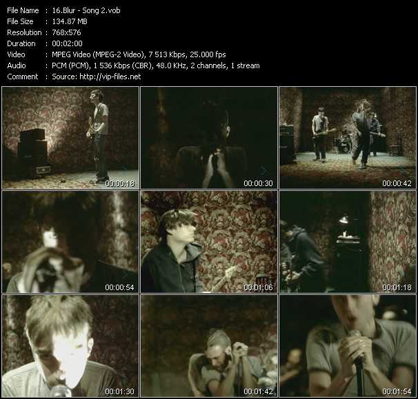 Blur video vob