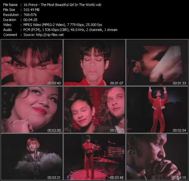 Prince The Most Beautiful Girl In The World Download Music Video Clip From Vob Collection