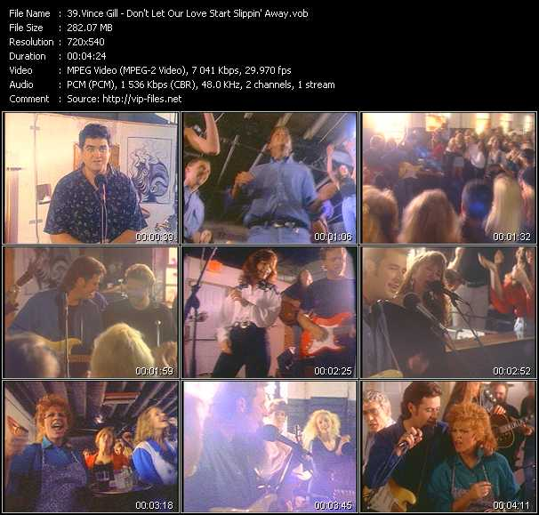 Screenshot of Music Video Vince Gill - Don't Let Our Love Start Slippin' Away