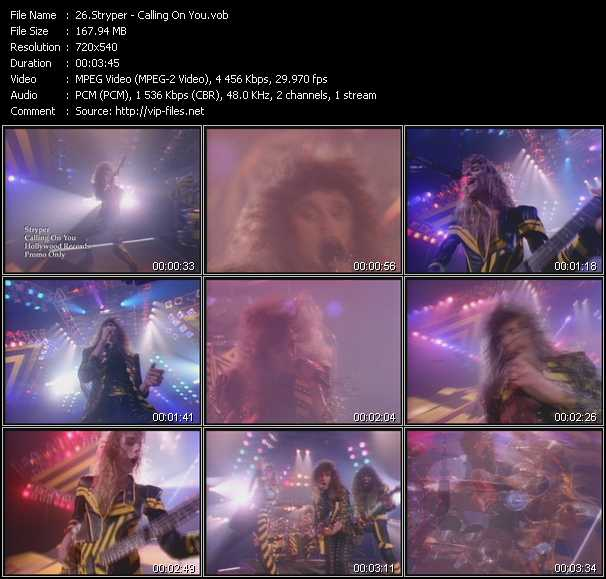 Screenshot of Music Video Stryper - Calling On You
