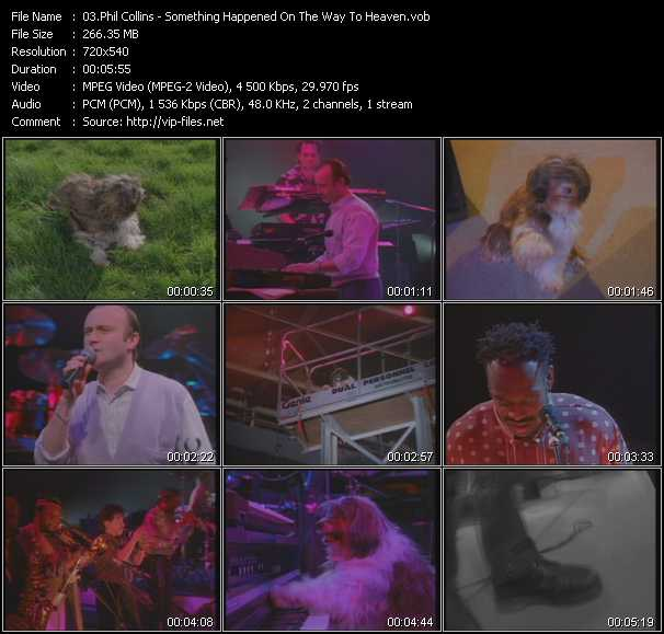 Phil Collins video vob