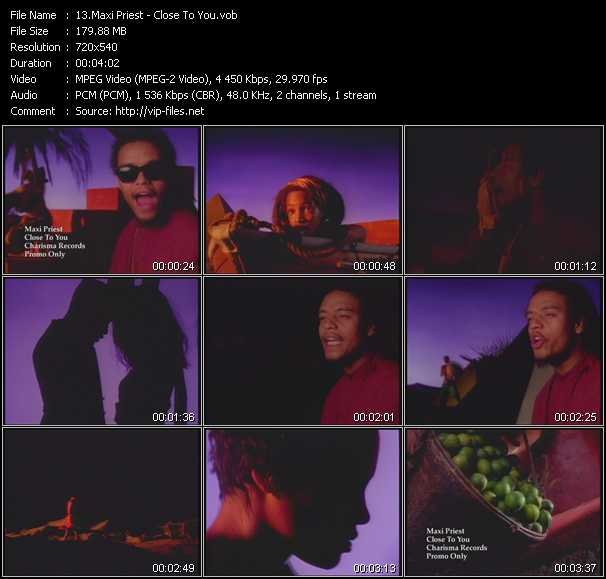 Maxi Priest video vob