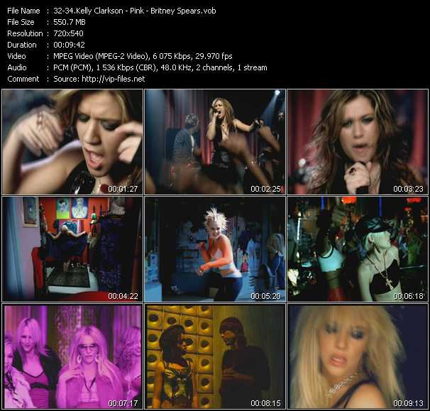 Kelly Clarkson - Pink - Britney Spears video vob