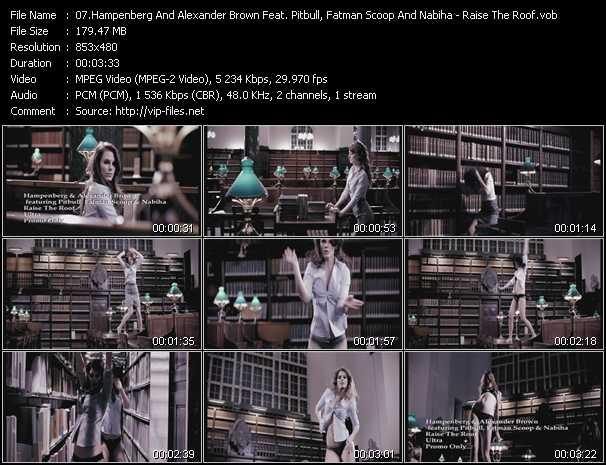 Hampenberg And Alexander Brown Feat. Pitbull, Fatman Scoop And Nabiha видеоклип vob