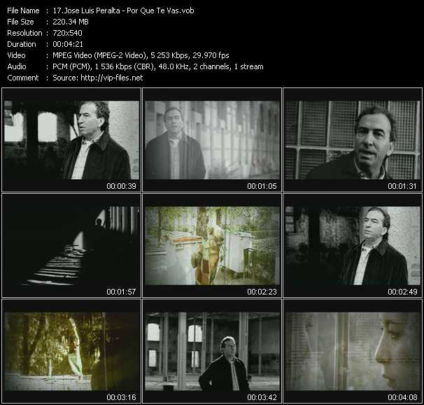 Screenshot of Music Video Jose Luis Peralta - Por Que Te Vas