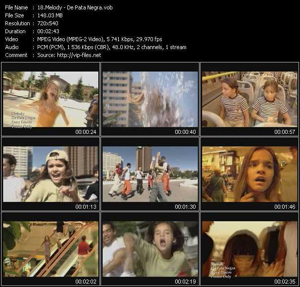 Screenshot of Music Video Melody - De Pata Negra