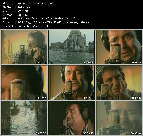 Screenshot of Music Video Dyango - Venecia Sin Ti