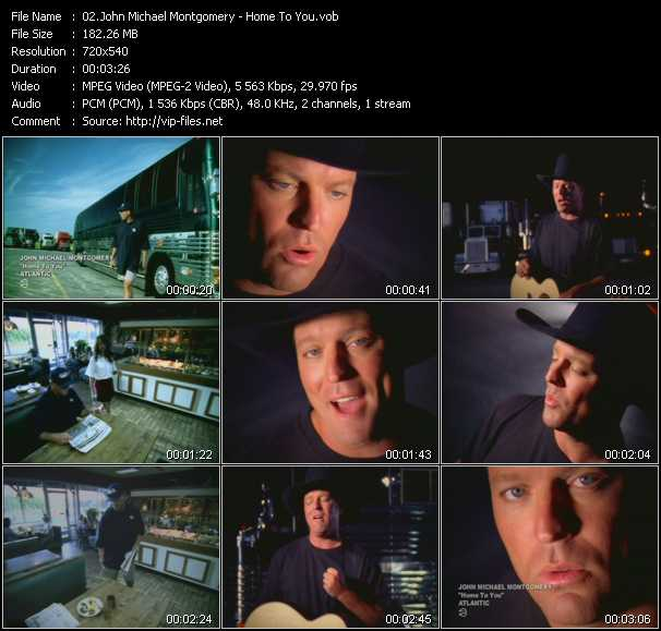 Screenshot of Music Video John Michael Montgomery - Home To You